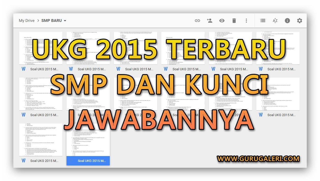 Kumpulan Soal Ukg 2015 Smp Terbaru Lengkap Dengan Jawabannya Revisi Terbaru