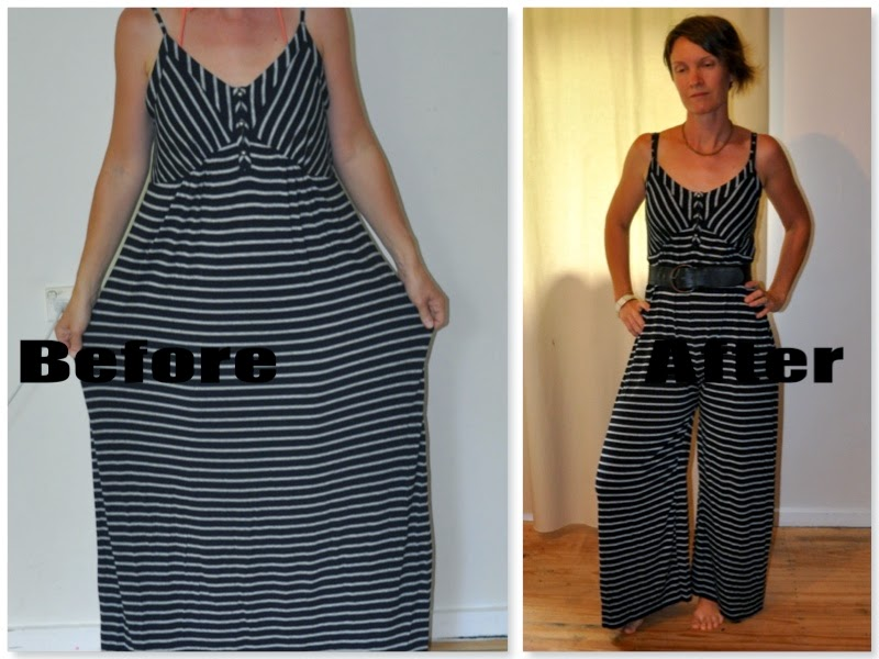 Rustic Refashion Maxi Dress To Jumpsuit