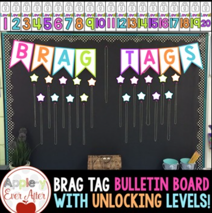 Brag Tag Bulletin Board Set