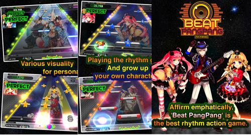Ritmo y musica en el juego de Beat PangPang for Kakao