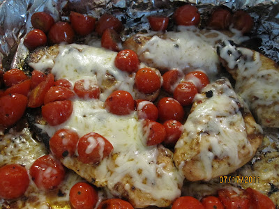Grilled Chicken with Roasted Grape Tomatoes! Guest Post by Lois from Walking on Sunshine