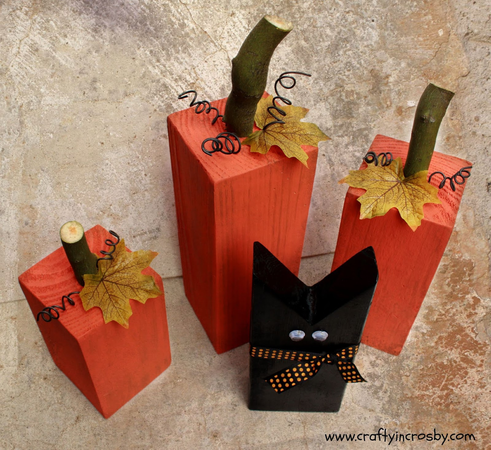 Diy Fall Decorations Crafty In Crosby Fun Fall Pumpkins And A Sweet Black Cat