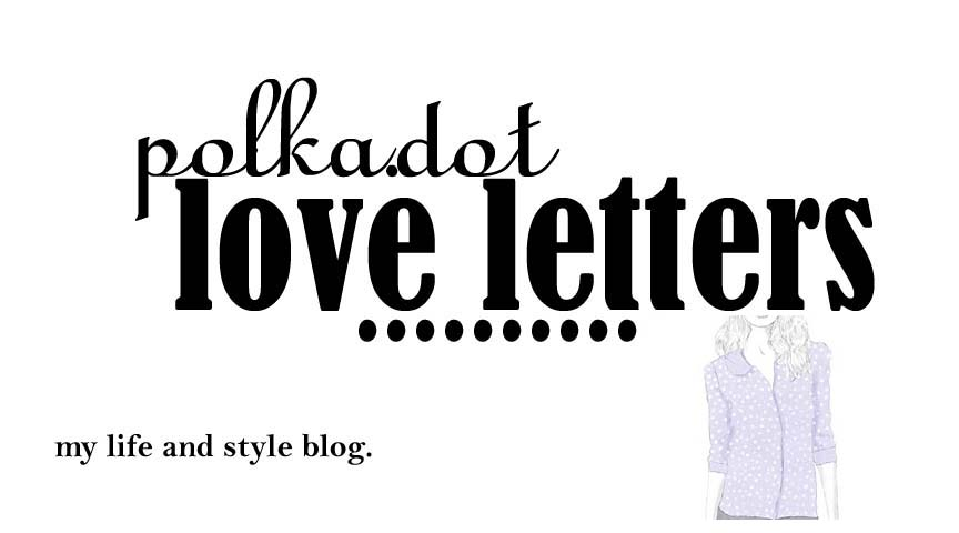 polka dot love letters