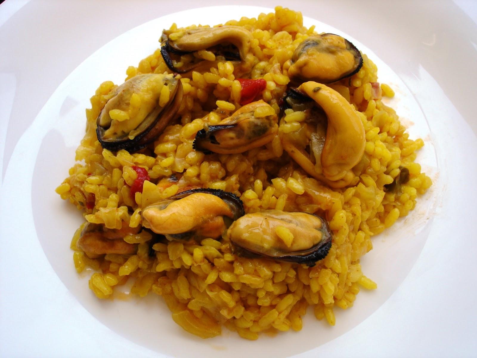 arroz repollo mejillones receta facil sano