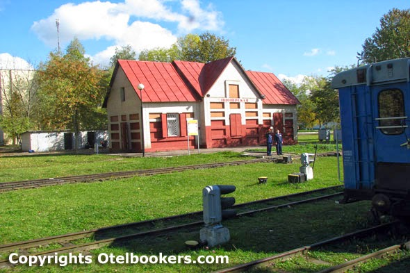 The Children's Railway Station Zaslonovo in Minsk - Belarus