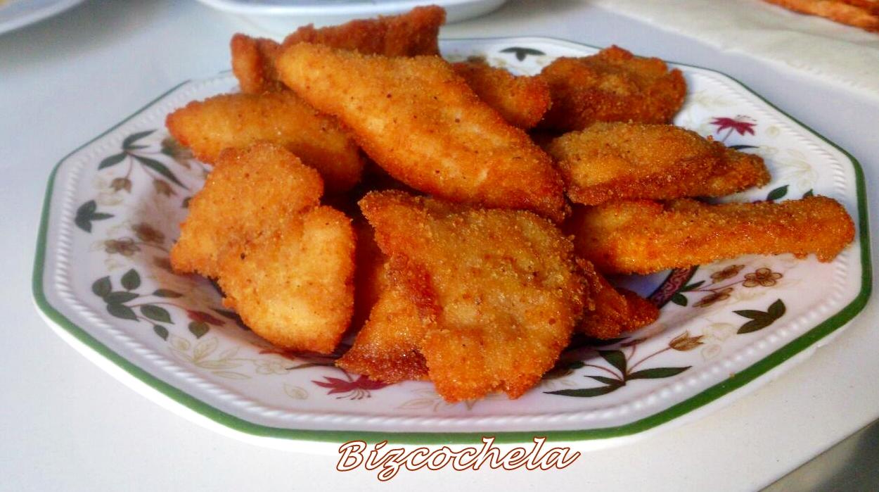 Filetes de pollo empanados for Como cocinar filetes de pollo