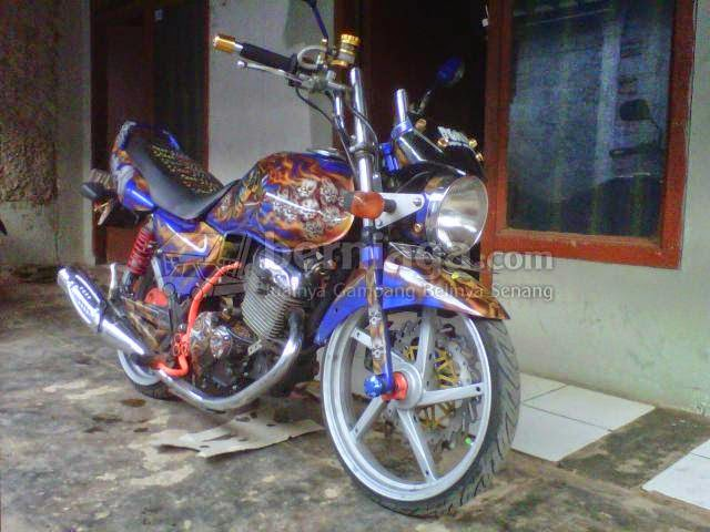 modifikasi motor thunder airbrush