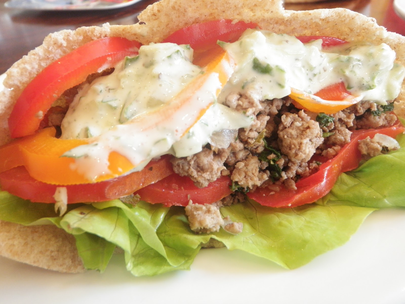 Cooking with Claire: Lamb Pitas with Cucumber Yogurt Sauce