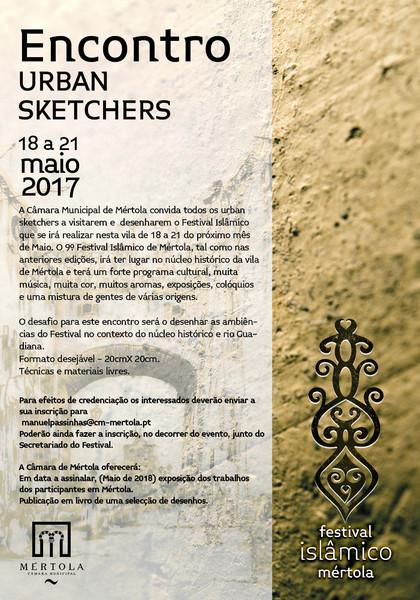 Festival Islâmico de Mértola - Encontro de Urban Sketchers