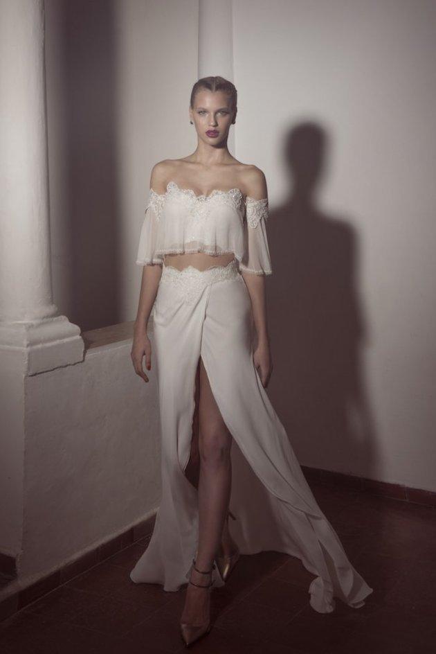 High Slit Beach Wedding Dress