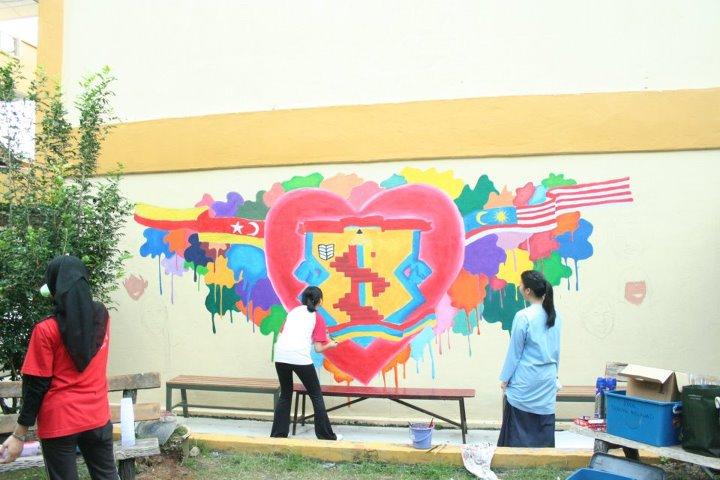 Kelab pencegahan jenayah smk taman melawati mural sekolah for Mural sekolah