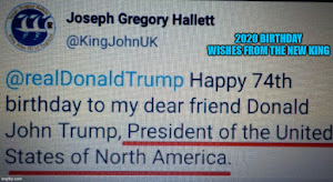 Twitter birthday wishes to Donald J. Trump
