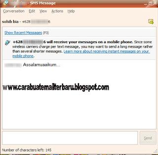 Cara SMS gratis Lewat Yahoo Messenger