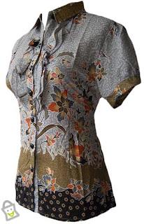model baju kemeja batik wanita