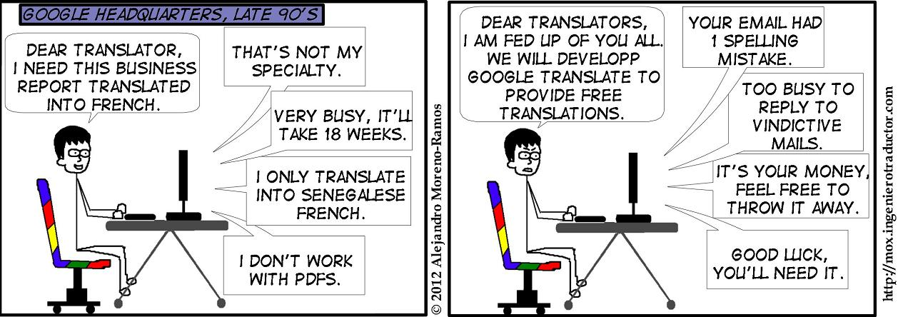 comic google translate development