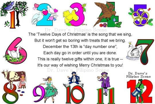 Dr Daves Filipino Scene Blog The 12 Days Of Christmas Did