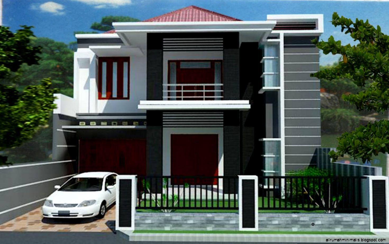 Desain rumah minimalis type 45 2 lantai   Modern Sederhana