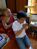 Master doing blessing