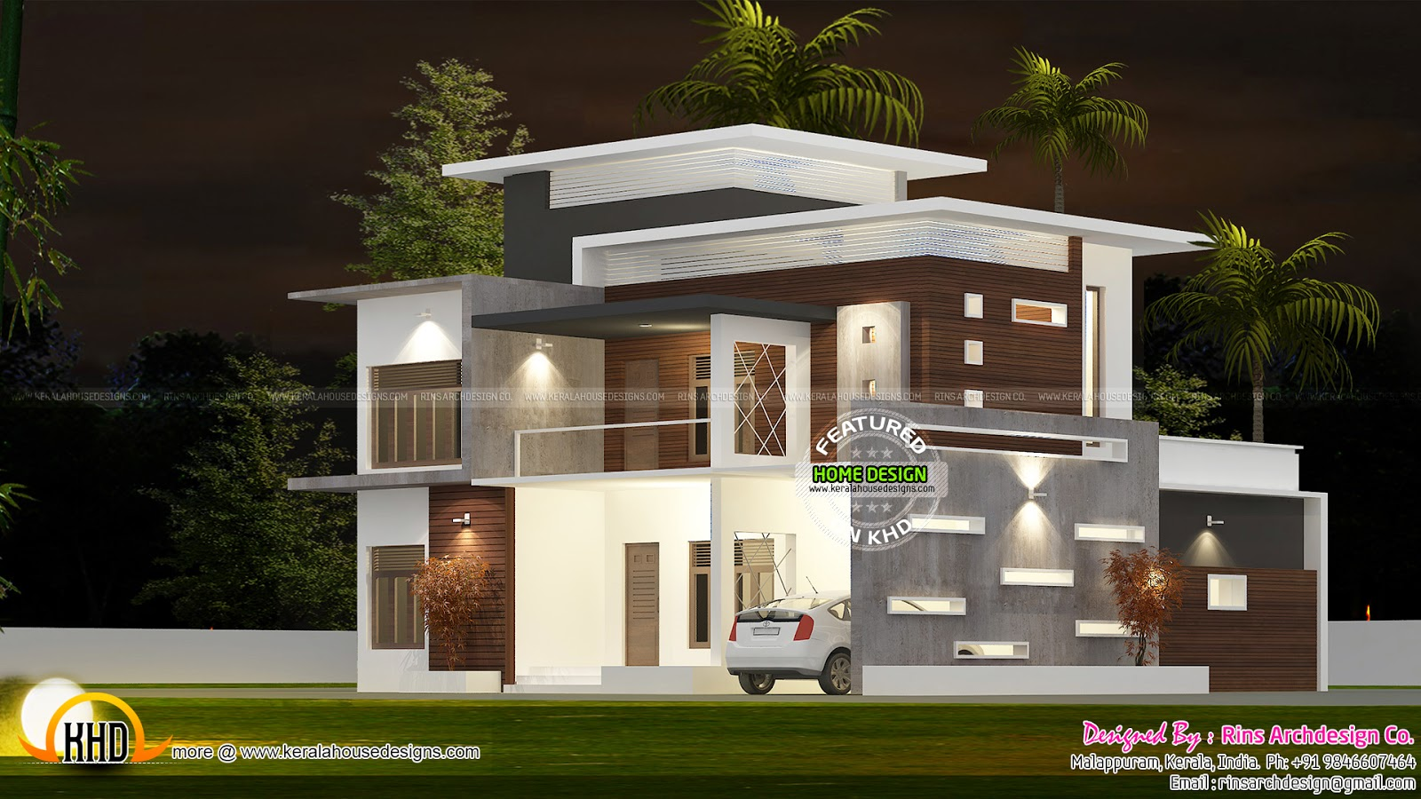 289 sq yd contemporary flat roof kerala home design and floor plans