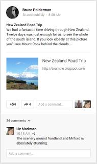 tampilan layar google+
