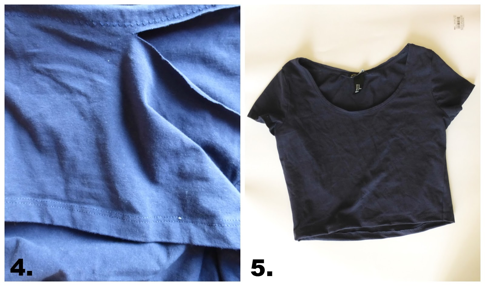 cropped top tee shirt tutorial