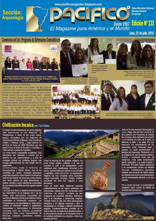 Revista Pacífico Nº 233 Arqueología