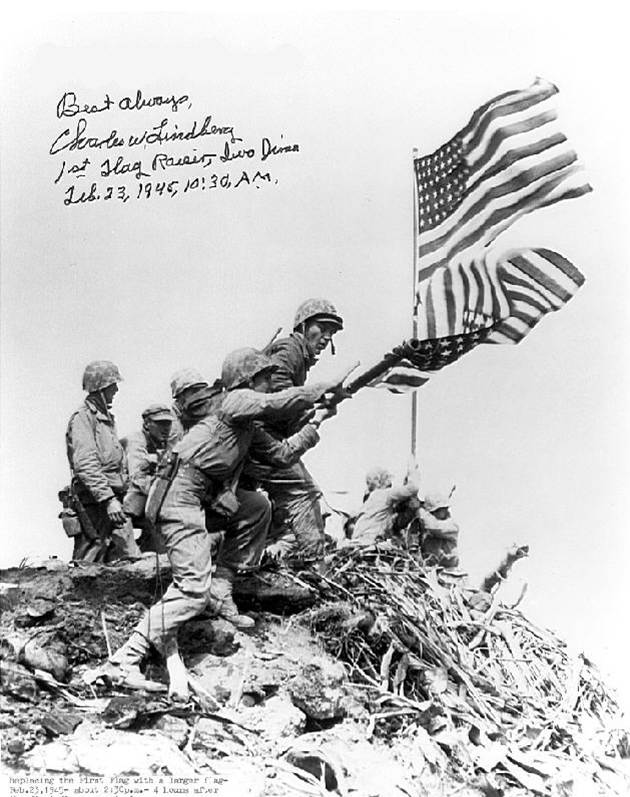 Kill the Jellyfish: Iwo Jima: Charles Lindberg