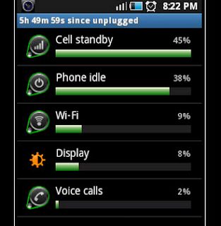 setting android battery
