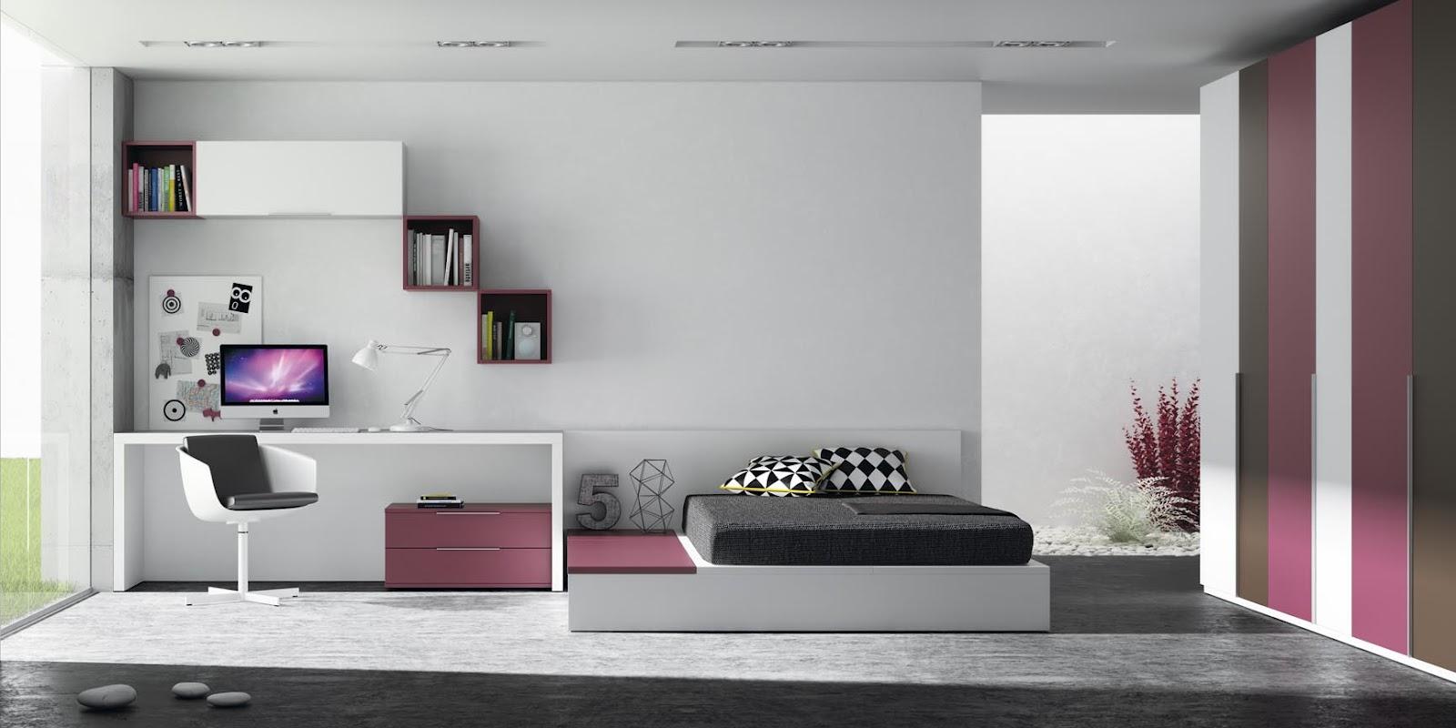 Habitacion juvenil con cama tatami