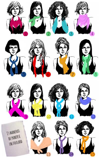 15 maneras de ponerse un foulard / pañuelo