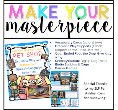 https://www.teacherspayteachers.com/Product/Purr-fect-Communication-Pet-Shop-Dramatic-Play-with-Speech-Lang-Activities-1932755