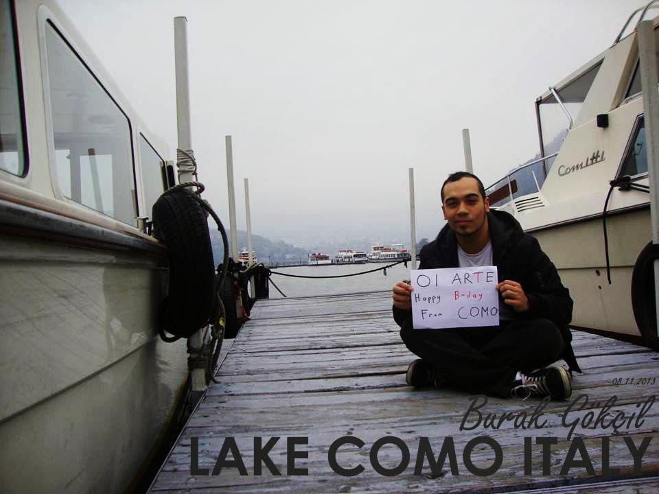 COMO GÖLÜ ITALYA tebriği