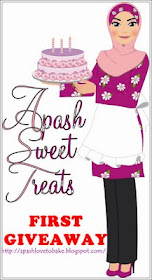 Apash Sweet Treats: FIRST GIVEAWAY