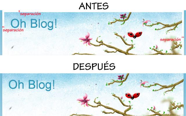 diferencia de la cabecera cuando cubre el ancho del blog y cuando no