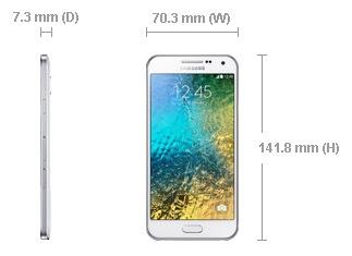 Ukuran Samsung Galaxy E5