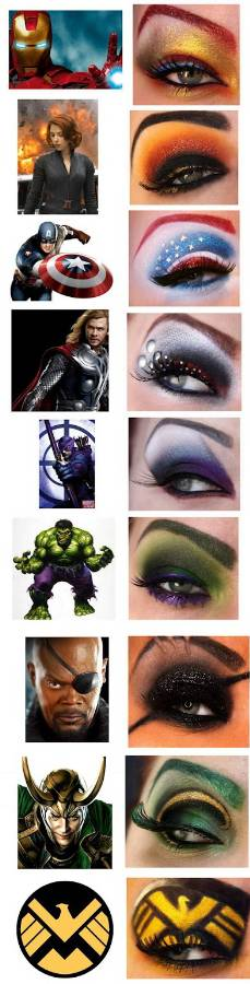 super hero trend makeup