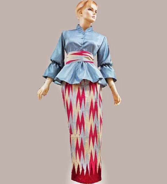 Model Batik Dress Motif Rang Rang - Batik Bagoes Solo