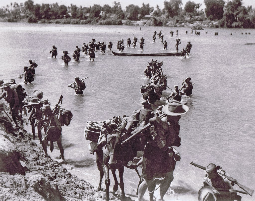 Crossing the Irrawaddy, 1944