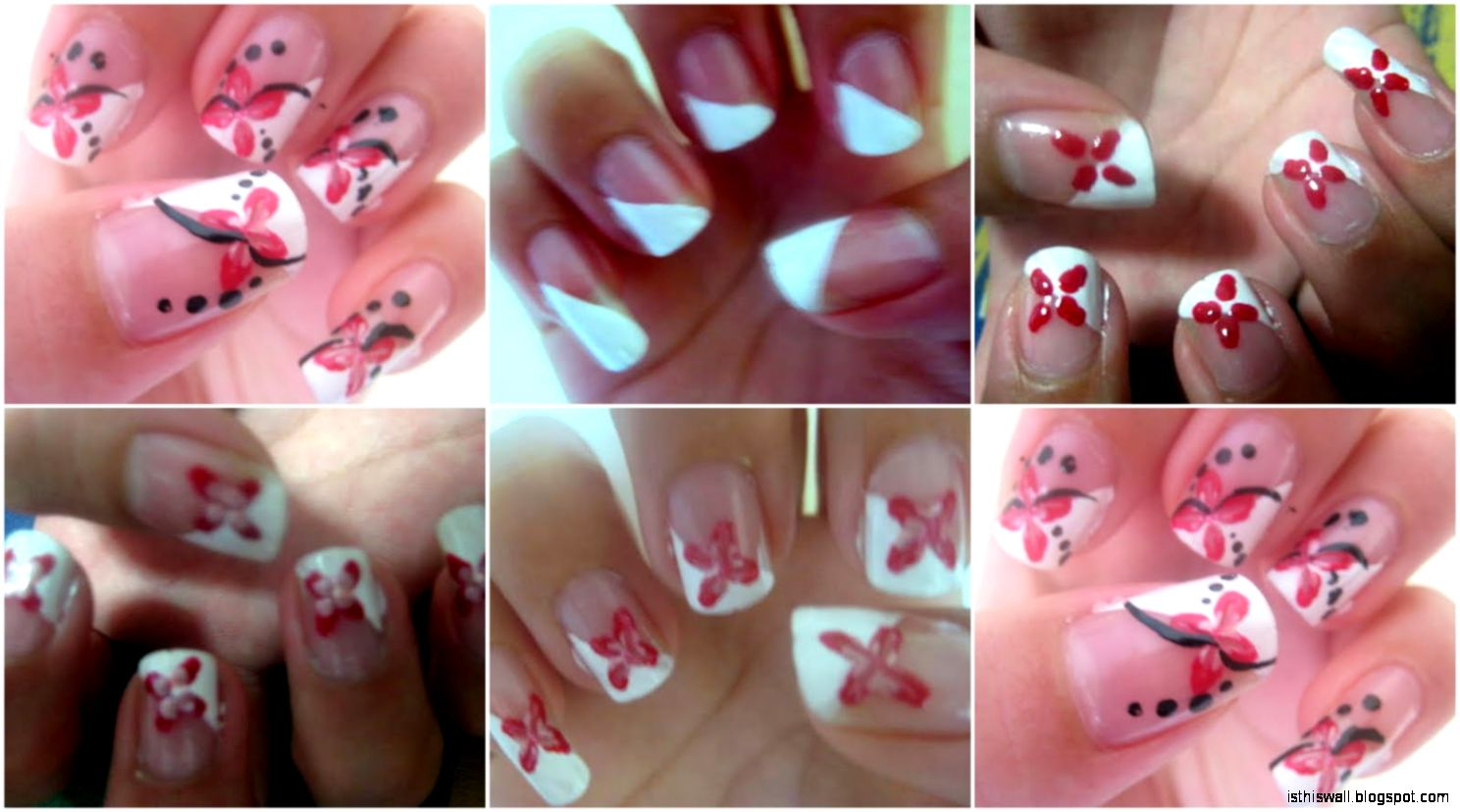 Nails  Simple Fingernail Cool Home Nail Designs Ideas Home - Nail designs home