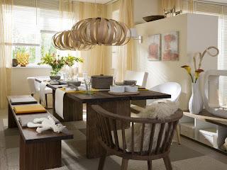 sala de jantar moderna bonita