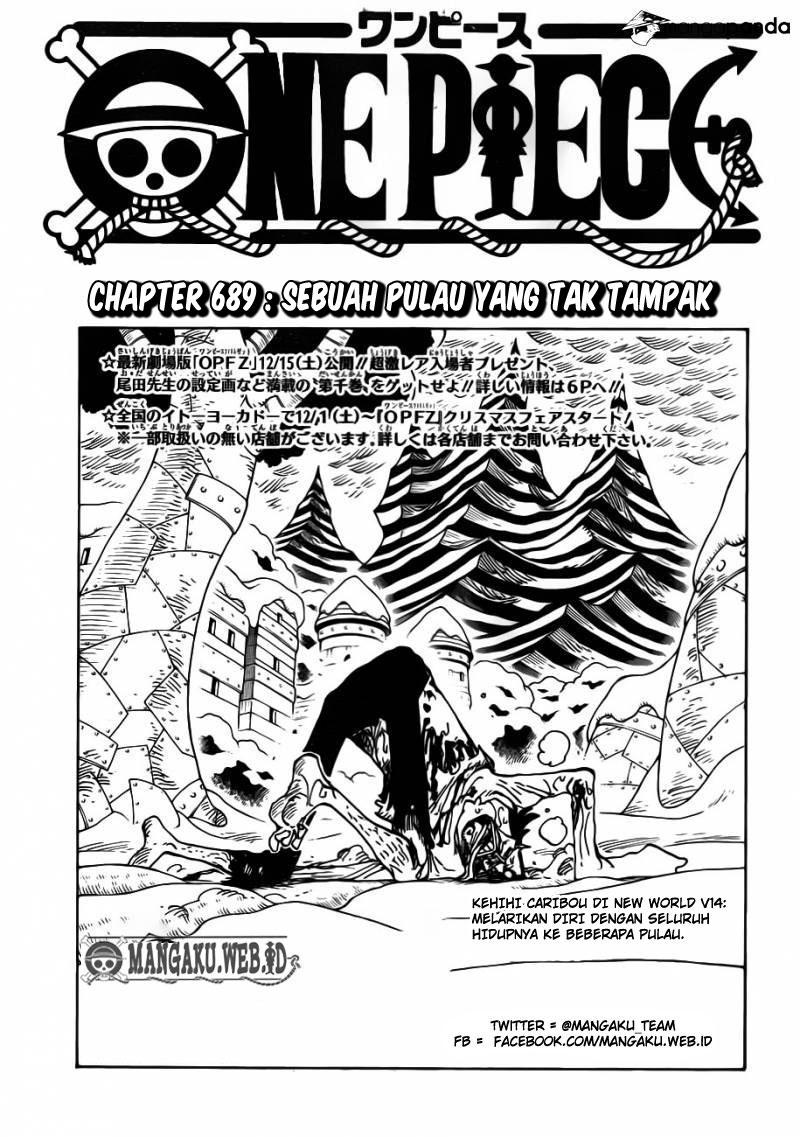 03 One Piece 689   Sebuah Pulau Yang Tak Tampak