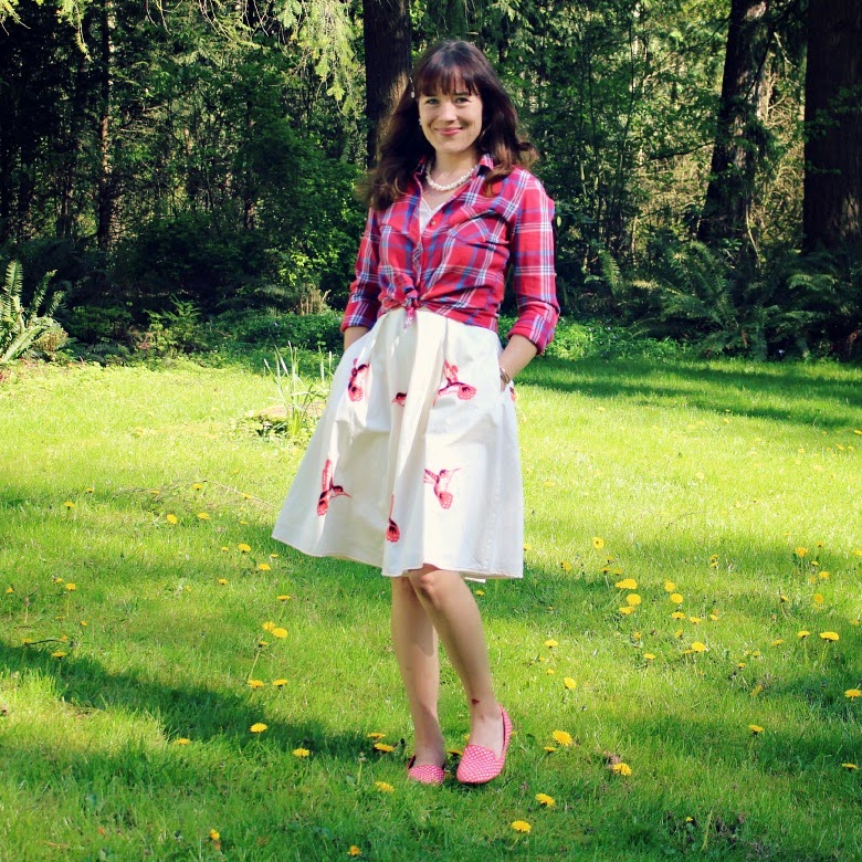 Spring eShakti dress and plaid