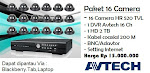 Paket 16 Camera HR 520 TVL