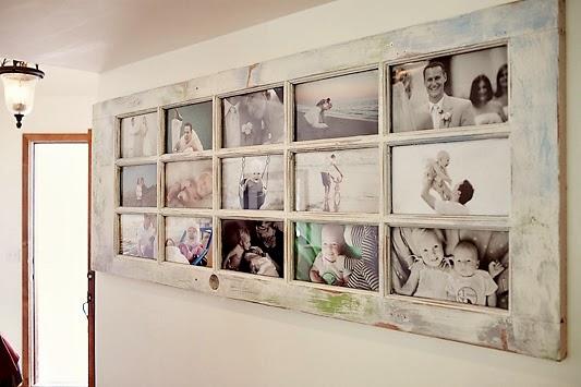 Berühmt Conso re-créative: Créer un cadre photo récup' avec une vieille porte ZV05