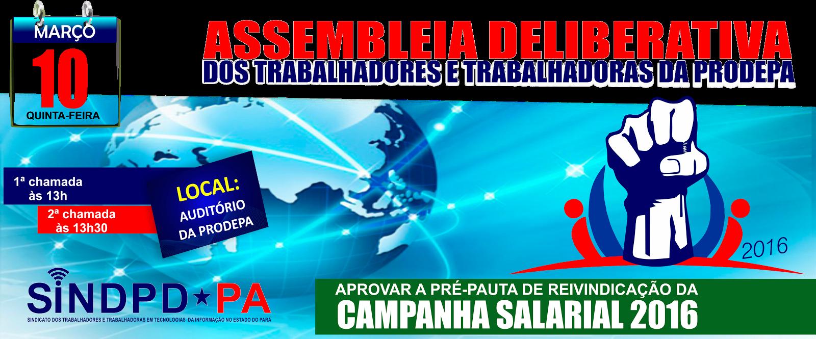 ASSEMBLEIA DOS TRABALHADORES(AS) DA PRODEPA
