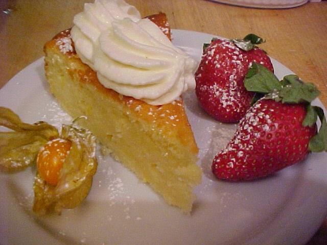 Gâteau sablé aux amandes et au citron