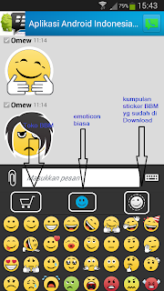 screenshot BBM sticker Android