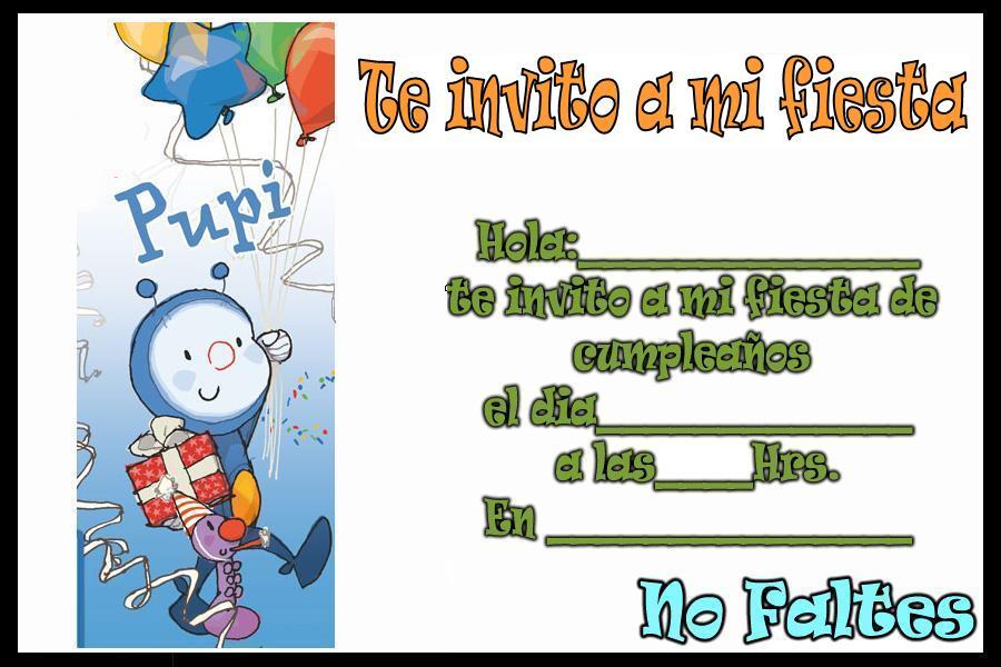 Tarjetas De Invitacion Para Cumple Anos