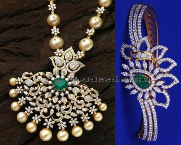 Diamond Pendant and Bracelet