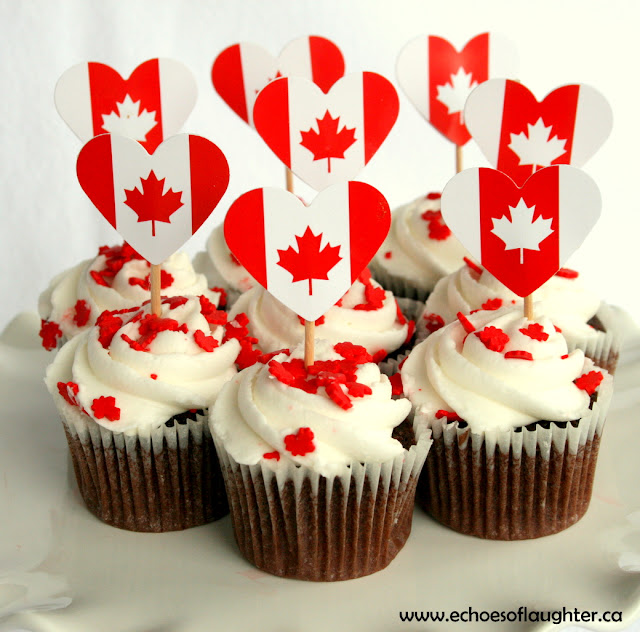 Echoes of laughter canada day cupcakes for Mini tin mailboxes for crafts